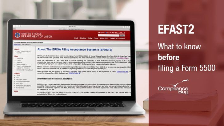EFAST2: 4 Things To Know BEFORE Filing your Form 5500